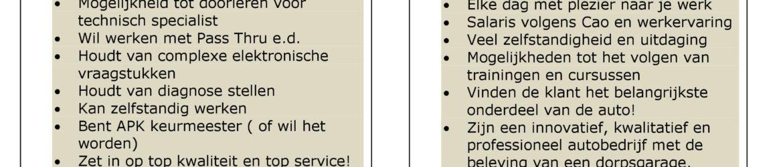 vacature HP Autoservice